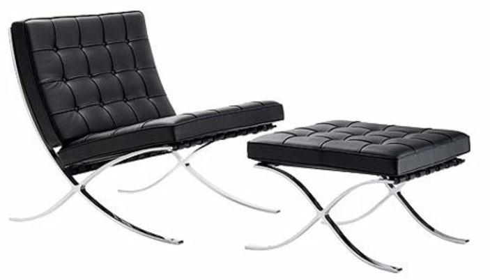 la chaise barcelone de ludwig mies van der rohe la c l bre chaise barcelone. Black Bedroom Furniture Sets. Home Design Ideas