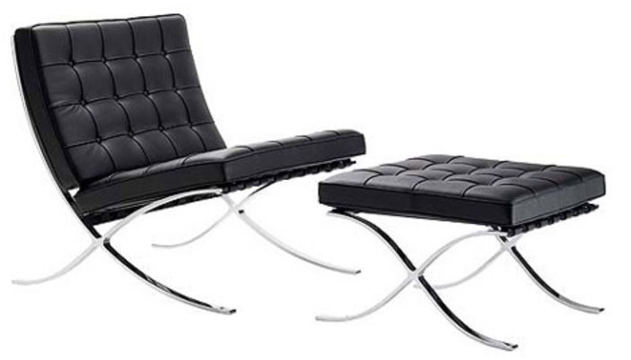Silla barcelona la silla barcelona creada por ludwig - Mies van der rohe sedia ...
