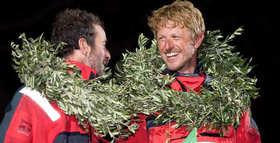 Les deux vainqueurs de la 1ere Barcelona World Race