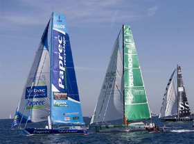 Le départ de la 1ere Barcelona World Race