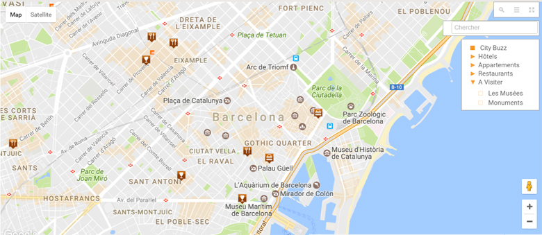 karta barcelone Barcelona Map   Interactive Map   City maps of Barcelona   Tourist  karta barcelone