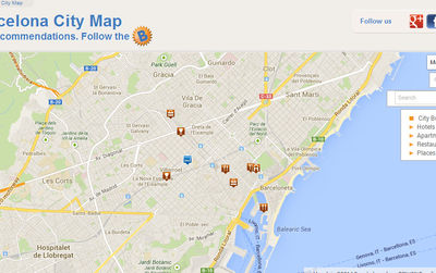 Barcelona Map - Interactive Map - City maps of Barcelona ...