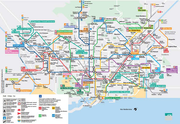 Subway Map Holiday.Barcelona Metro Map Hours Lines And Fares