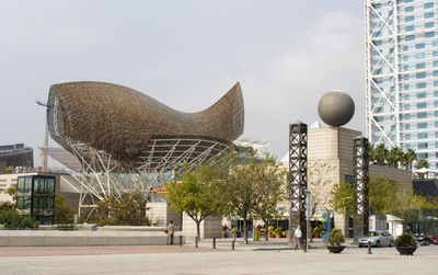 City visit of the sea front district of Barcelona
