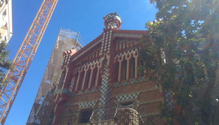 Casa Vicens during works in July 2017