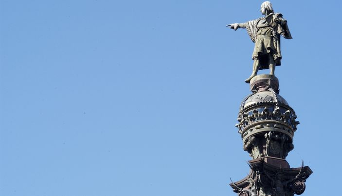The Monument Of Christopher Columbus Barcelona
