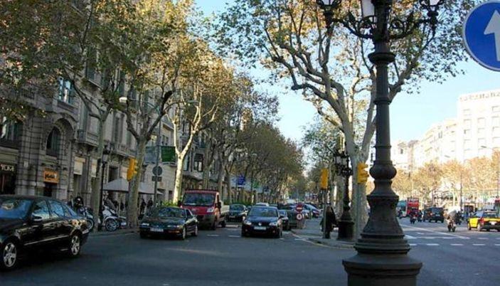 Passeig De Gracia Avenue In Barcelona