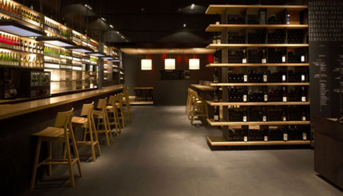 Vinoteca torres wine bar and restaurant in barcelona for Asian furniture nyc