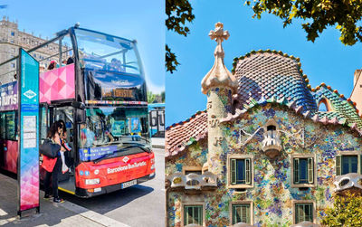 Casa Batlló & Hop on Hop off Bus