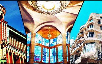 El pase a las tres casas de Gaudí