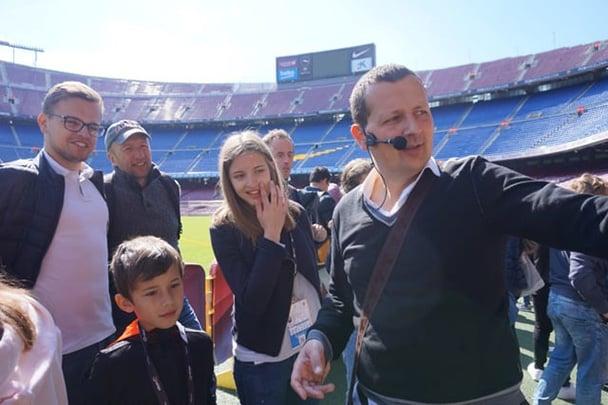 Visite Guidée du Camp Nou avec Olivier Goldstein