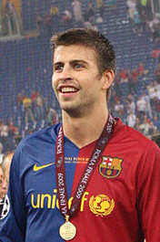 Gerard Piqué Bernabeu born 2nd February 1987 in Barcelona, is a Spanish footballer, currently playing as a centre back for Barcelona.