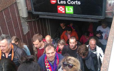 Les jours de matchs, allez au Camp Nou en métro!