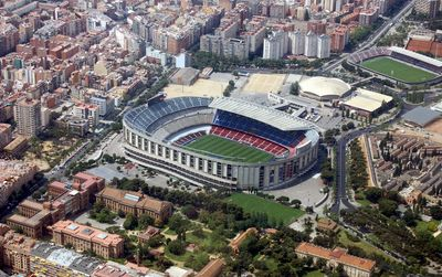 How to get to the camp nou aerial
