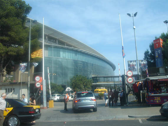 Entrance of Camp Nou