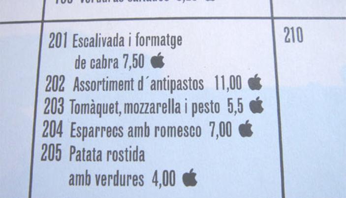 Cuines Santa-Caterina menu