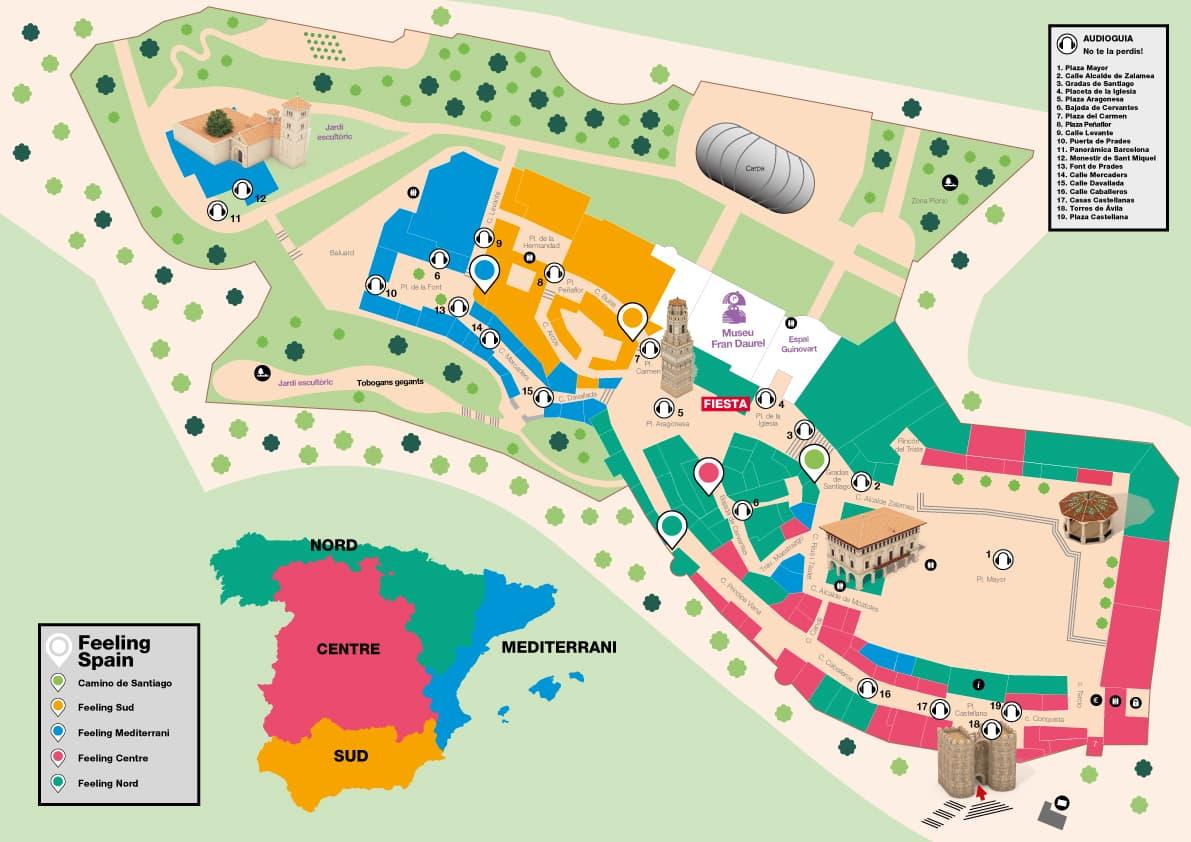 Map - Ploble espanyol - Barcelona -