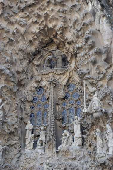 The Sagrada Familia from Gaudi : detail
