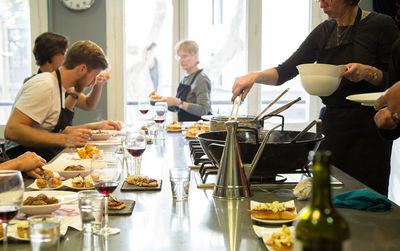 Cours cuisiner Paella-dîner